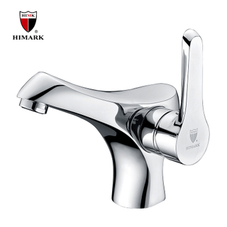 HIMARK Unique Single Handle Modern Bathroom Basin Faucet for Sink