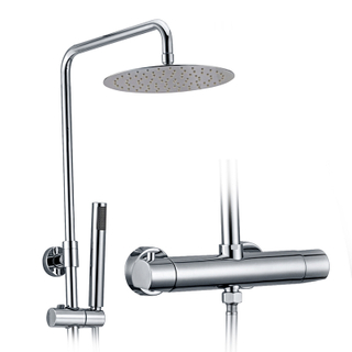 Modern exposed thermostatic shower faucet set for bathroom
