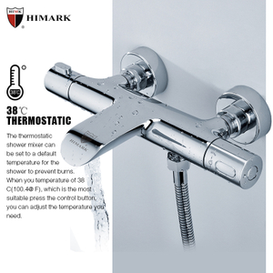 Anti-scald smart thermostatic bath shower mixer
