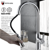Simple style single handle pull down kitchen sink faucet