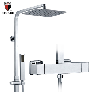 HIMARK modern bathroom surface mounted thermostatic bath shower mixer taps