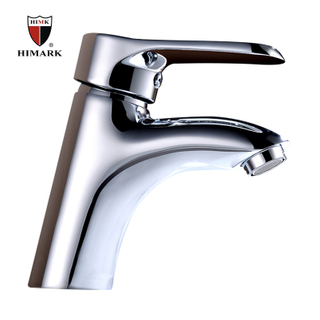 HIMARK China manufacturer single hole chrome bathroom sink mixer tap